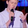 Antoine, Loïc et Axel dans The Voice Kids 4 le 16 septembre 2017 sur TF1.