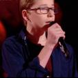 """Maria, Théo et Kelvin dans """"The Voice Kids 4"""" sur TF1 le 16 septembre 2017."""