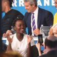 Lupita Nyong'o au téléthon Hand in Hand organisé au profit des victimes des ouragans Harvey et Irma le 12 septembre 2017