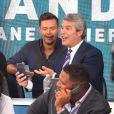 Ryan Seacrest, Andy Cohen au téléthon Hand in Hand organisé au profit des victimes des ouragans Harvey et Irma le 12 septembre 2017