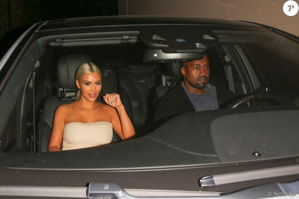 Kim Kardashian et Kanye West quittent la boîte de nuit Peppermint à Los Angeles, le 12 septembre 2017