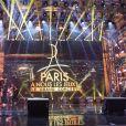 """Ambiance - Concert """"Paris, À nous les Jeux!"""" pour fêter l'attribution des Jeux Olympiques et Paralympiques d'été 2024 sur la place de l'hôtel de ville de Paris, France, le 15 septembre 2017. © Pierre Perusseau/Bestimage"""