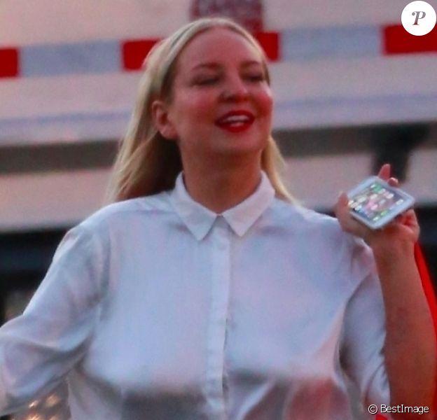 """Exclusif - Kate Hudson, Sia et Maddie Ziegler fêtent la fin du tournage du film """"Sister"""" à Los Angeles le 10 septembre 2017."""
