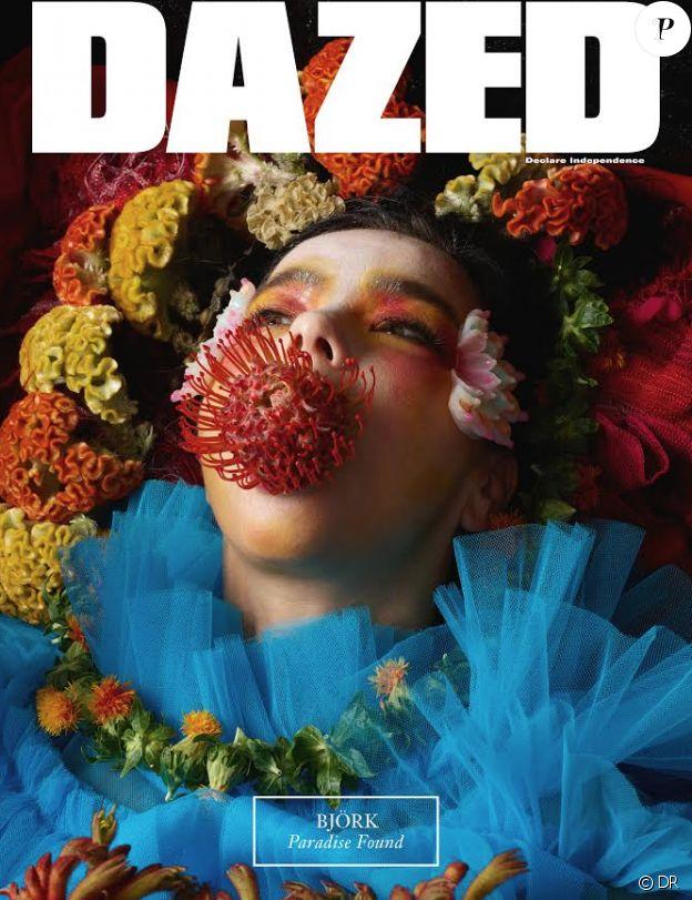 Björk en couverture de DAZED, septembre 2017.
