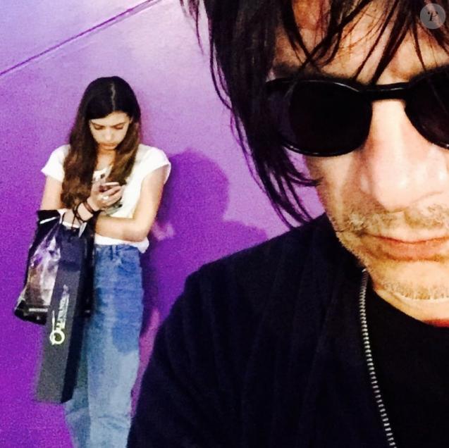 Nicola Sirkis et sa fille Théa sur Instagram, octobre 2016.