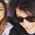 Nicola Sirkis et sa fille Théa sur Instagram, juillet 2016.