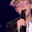 """Amandine lors de la demi-finale de """"The Voice Kids 4"""" (TF1), le 23 septembre 2017."""