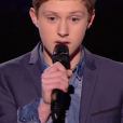 """Antoine lors de la demi-finale de """"The Voice Kids 4"""" (TF1), le 23 septembre 2017."""