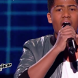 "Kelvin lors de la demi-finale de ""The Voice Kids 4"" (TF1), le 23 septembre 2017."