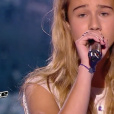 "Lilou lors de la demi-finale de ""The Voice Kids 4"" (TF1), le 23 septembre 2017."
