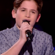 "Thibault lors de la demi-finale de ""The Voice Kids 4"" (TF1), le 23 septembre 2017."