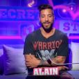 """Alain lors de la quotidienne de """"Secret Story 11"""" (NT1), le 21 septembre 2017."""