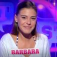 """Barbara lors de la quotidienne de """"Secret Story 11"""" (NT1), le 21 septembre 2017."""
