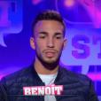 """Benoît lors de la quotidienne de """"Secret Story 11"""" (NT1), le 21 septembre 2017."""