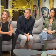 "Makao, Barbara, Jordan et Laura lors de la quotidienne de ""Secret Story 11"" (NT1), le 21 septembre 2017."