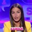 """Kamila lors de la quotidienne de """"Secret Story 11"""" (NT1), le 21 septembre 2017."""