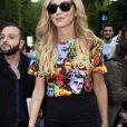 Chiara Ferragni au défilé Versace à la Triennale de Milan lors de la Fashion Week de Milan le 22 septembre 2017. Donatella Versace y a rendu un hommage puissant et inspiré à son défunt frère Gianni.