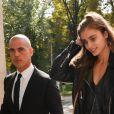 Exclusif - Taylor Hill arrivant pour le défilé Versace à la Triennale de Milan lors de la Fashion Week de Milan le 22 septembre 2017. Donatella Versace y a rendu un hommage puissant et inspiré à son défunt frère Gianni.