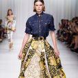 """Défilé de mode printemps-été 2018 """"Versace"""" lors de la fashion week de Milan. Le 22 septembre 2017  Women Fashion Show SS 2018 Versace catwalk Milan - Italy 22 september 201722/09/2017 - Milan"""