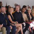 La princesse Charlene de Monaco a assisté le 22 septembre 2017 au défilé de la collection printemps-été 2018 de Versace lors de la Fashion Week à Milan. Une présentation dédiée à la mémoire de Gianni Versace et marquée par la participation de Carla Bruni, Claudia Schiffer, Naomi Campbell, Cindy Crawford et Helena Christensen.
