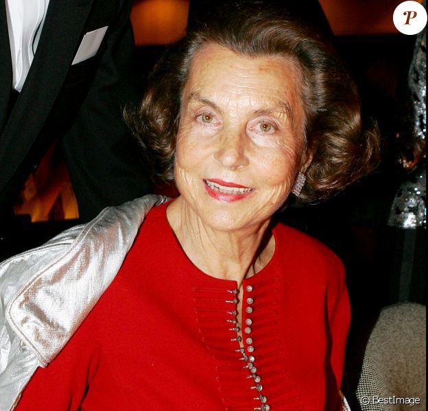 Liliane Bettencourt, photo d'archives.