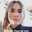 """Joyce Jonatahn devient blonde, samedi 23 septembre 2017."""