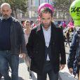 Benoît Hamon - Manifestation contre la loi travail dans les rues de Paris. Le 21 septembre 2017 © Pierre Perusseau / Bestimage