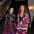 Aurélie Saada et Sylvie Hoarau - Défilé Leonard, collection printemps-été 2018 au Pavillon Ledoyen. Paris, le 2 octobre 2017.