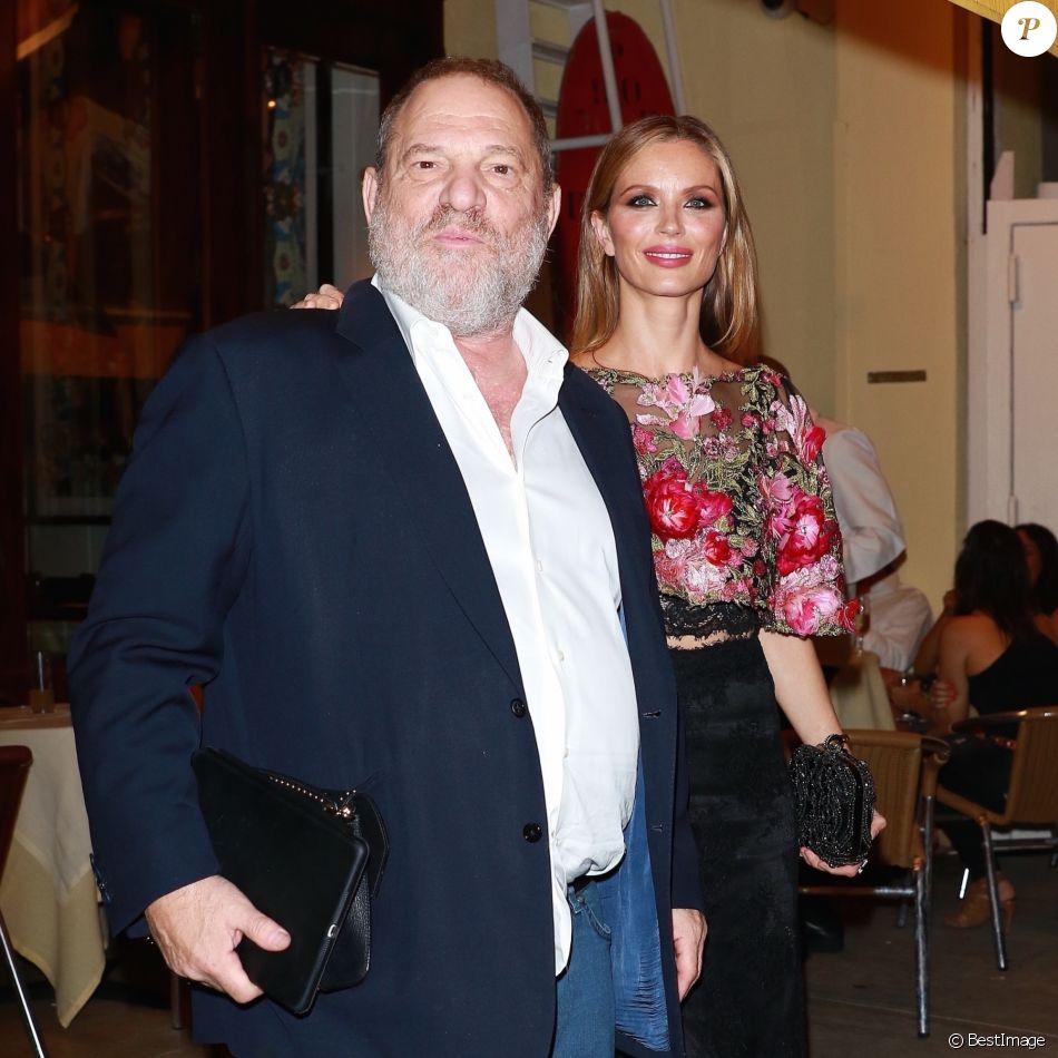 Harvey Weinstein et sa femme Georgina Chapman sont allés diner au Socialista à New York, le 23 septembre 2017