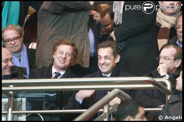 Nicolas Sarkozy au Parc des Princes