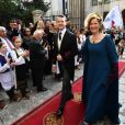 Le Prince Philip avec sa mère Maria da Gloria d'Orléans-Bragance lors de son mariage à Belgrade, le 7 octobre 2017, avec Danica Marinkovic.
