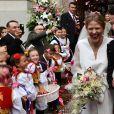Photo du mariage à Belgrade, le 7 octobre 2017, du prince Philip de Serbie, fils du prince héritier Alexander de Serbie et de la princesse Maria da Gloria d'Orléans-Bragance, et de Danica Marinkovic.