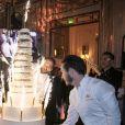 Exclusif - Le gateau des 10 ans lors de la soirée de remise du 10e prix Meurice pour l'art contemporain à l'hôtel Meurice à Paris le 9 octobre 2017. © Jean Picon via Bestimage