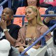 Beyoncé et son mari Jay-Z pendant l'US Open 2016 au USTA Billie Jean King National Tennis Center à Flushing Meadow, New York, le 1er Septembre 2016.