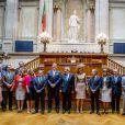 Le roi Willem-Alexander et la reine Maxima des Pays-Bas lors d'une visite d'état à Lisbonne au Portugal reçus par Eduardo Ferro Rodrigues, président de l'assemblée de la république portugaise à Lisbonne le 9 octobre 2017.10/10/2017 - Lisbonne