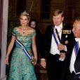 Le roi Willem Alexander et la reine Maxima des Pays-Bas - Le roi et la reine des Pays-Bas lors d'un dîner d'état au Palais national d'Ajuda lors de leur visite officielle à Lisbonne, le 10 octobre 2017.  Dutch royals at a state dinner at Palacio da Ajuda, Lisbon, Portugal - 10 Oct 201710/10/2017 - Lisbonne