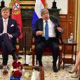 Le roi Willem-Alexander et la reine Maxima des Pays-Bas lors d'une visite d'état à Lisbonne au Portugal reçus par Eduardo Ferro Rodrigues, président de l'assemblée de la république portugaise à Lisbonne le 9 octobre 2017. 10/10/2017 - Lisbonne