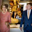 """Le roi Willem-Alexander et la reine Maxima des Pays-Bas visitent le musée d'art (Le Museu Nacional de Arte Antiga de Lisbonne) à Lisbonne, Portugal, le 11 octobre 2017.  Dutch royals visit the """"Museu Nacional de Arte Antiga"""", in Lisbon, Portugal on October 11, 201711/10/2017 - Lisbonne"""