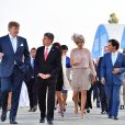 Le roi Willem-Alexander et la reine Maxima des Pays-Bas visitent le centre aéronautique OGMA à Alverca, Portugal, le 12 octobre 2017.  Dutch royals visit OGMA Industria Aeronautica de Portugal, in Alverca, Portugal on October 2017.12/10/2017 - Alverca
