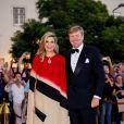 Le roi Willem-Alexander et la reine Maxima des Pays-Bas arrivent à un concert au théâtre national Dona Maria II à Lisbonne, Portugal, le 11 octobre 2017.  Dutch royals visit a concert at Teatro Nacional de Dona Maria II, in Lisbon, Portugal on October 11, 2017.11/10/2017 - Lisbonne