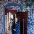 La reine Maxima des Pays-Bas et le roi Willem Alexander visitent Palais national de Sintra lors de leur voyage au Portugal le 12 octobre 2017. 12/10/2017 - Sintra
