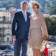 """""""La reine Maxima des Pays-Bas et le roi Willem Alexander visitent Palais national de Sintra lors de leur voyage au Portugal le 12 octobre 2017. 12/10/2017 - Sintra"""""""