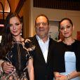 """Exclusif - Harvey Weinstein, sa femme Georgina Chapman, Marion Cotillard - L'équipe du film """"Le Petit Prince"""" (Le Petit Prince) quitte l'hôtel Majestic pour aller monter les marches du film lors du 68e Festival International du Film de Cannes, à Cannes le 22 mai 2015."""