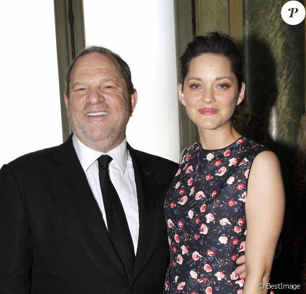 Harvey Weinstein, Marion Cotillard - Défilé Dior à Paris en 2013