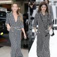 Blake Lively et Gigi Hadid portent une tenue Chanel, collection prêt-à-porter automne-hiver 2017. New York, le 16 septembre 2017.