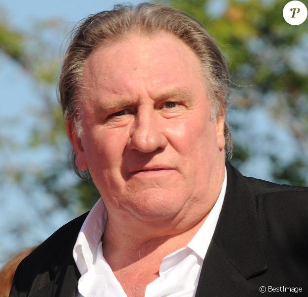 """Gérard Depardieu - Tapis rouge du film """"Novecento"""" lors du 74e Festival International du Film de Venise, la Mostra. Le 5 septembre 2017"""