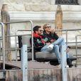 Scott Disick et sa compagne Sofia Richie profitent d'un séjour en amoureux à Venise, Italie le 18 octobre 2017.