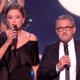 """Sandrine Quétier et Christophe Dechavane lors du second prime de """"Danse avec les stars 8"""" (TF1), samedi 21 octobre 2017."""