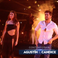 "Agustin Galiana et Candice Pascal lors du second prime de ""Danse avec les stars 8"" (TF1), samedi 21 octobre 2017."