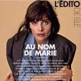 Hommage à Marie Trintignant dans le magazine ELLE, octobre 2017.